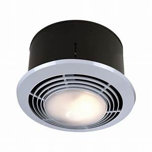 70 Cfm Ceiling Exhaust Fan With Light And Heater  Nutone