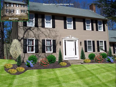 landscaping front of house pictures front yard landscape design madecorative landscapes inc