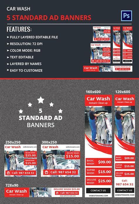 car wash ad banner  premium templates