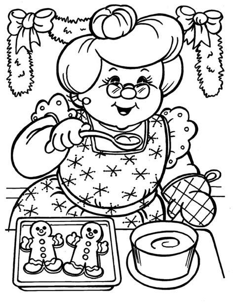 Kleurplaat Hoera Opa Oma by Kleuren Nu Oma Bakt Kerst Koekjes Kleurplaten