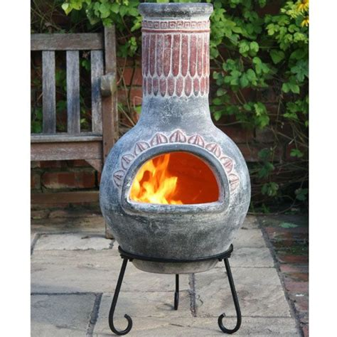 chiminea clay outdoor fireplace chimneia search garden image