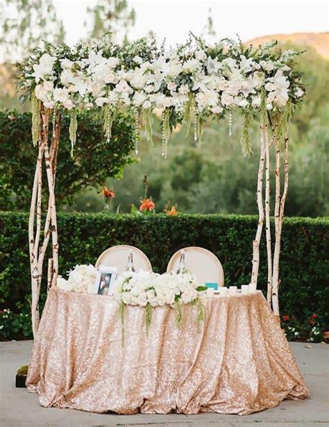 Garden Reception Decoration Ideas by Wedding Sweetheart Table Ideas Weddings Romantique
