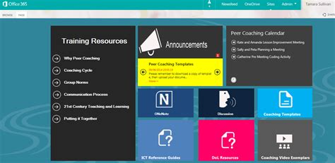 sharepoint site templates mosaic livetiles creating dynamic office 365 learning portals microsoft australia s