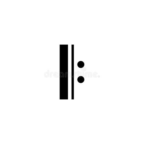 In musical notation, a bar (or measure) is a segment of time corresponding to a specific number of beats in which each beat is represented by a particular note value and the boundaries of the bar are indicated by vertical bar lines. Illustration Of A Double Bar Musical Note Stock Illustration - Illustration of black, song ...