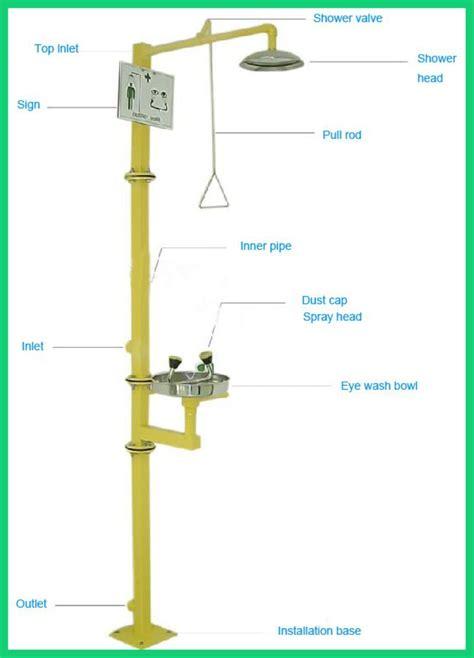 safety shower definition safety lab fitting emergency shower outlet eye wash