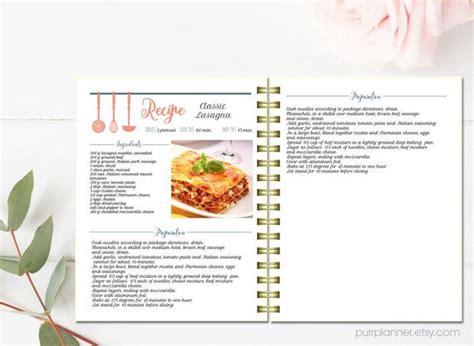 exemple de recette de cuisine livre de cuisine modifiable recette de modèle motif de