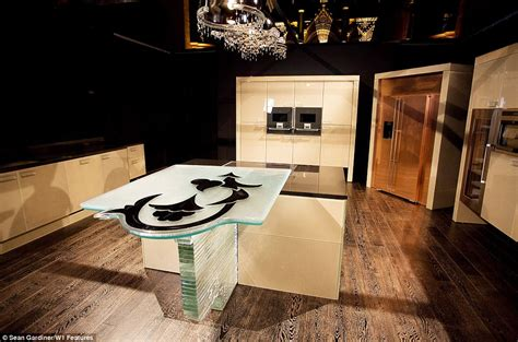 worlds  expensive kitchen   features  crystal
