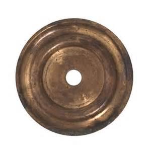 classic hardware brass cabinet knob round backplate van