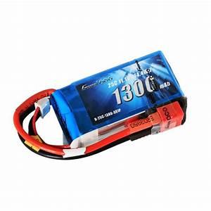 GA25C13003SD Gens ace 1300mAh 11.1V 25C 3S1P Lipo Battery ...
