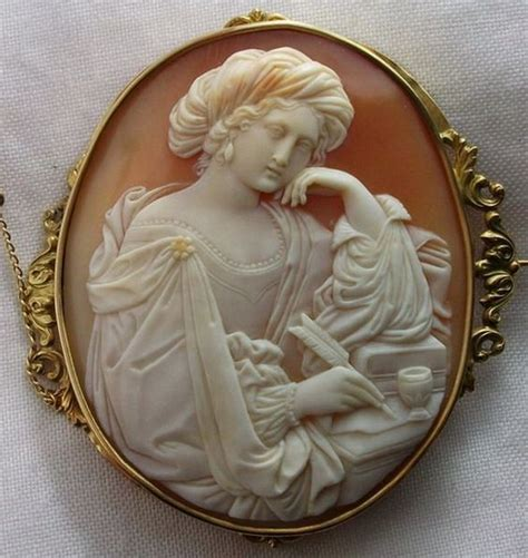cameo jewelry brooches  victorian  pinterest
