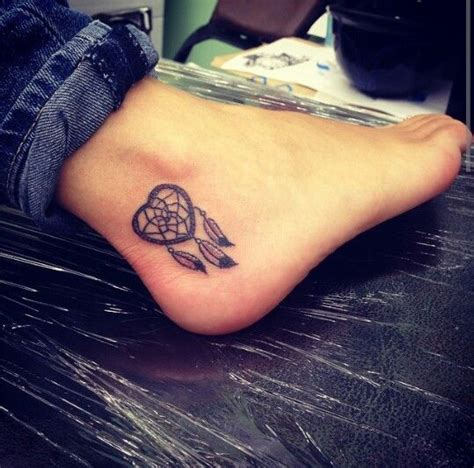 small dream catcher ankle tattoo tattoospiercings