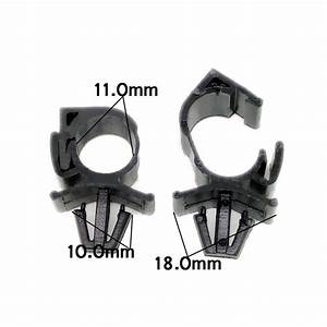 100pcs Black Plastic Car Wiring Harness Fastener Cable Fixed Clip Tie Wrap Clamp 6122778713228