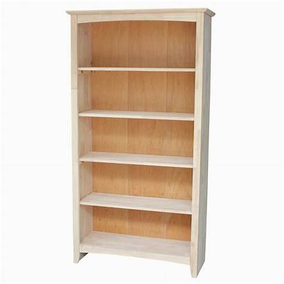 Unfinished Wood Bookcase Concepts International Shelf Brooklyn