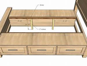 King Size Bed Frame With Drawers Plans - WoodWorking