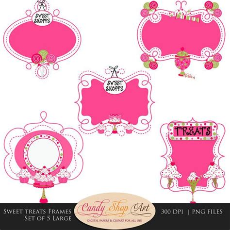 instant  sweet treats themed ornate frames