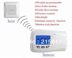 Thermostat Chaudiere Sans Fil : hebdomadaire programmable sans fil num rique thermostat de ~ Dailycaller-alerts.com Idées de Décoration