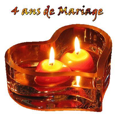 anniversaire de mariage 4 ans image cr 233 ation et animation de noces de cire