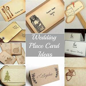 Rustic wedding place cards rustic wedding chic for Ideas for place cards wedding