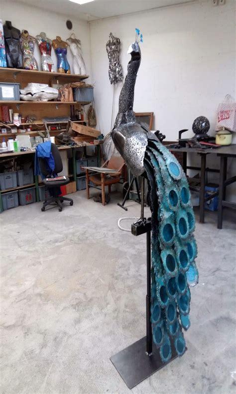paon sculpture valais  age de fer