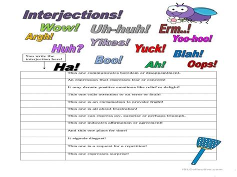 7 Free Esl Interjections Worksheets  Free Printable Worksheets