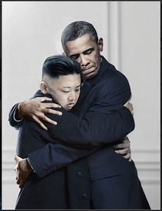 Obama and Kim Jong Un hugging. - Funny Pictures - Funny ...
