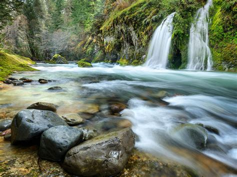 salmon creek falls willamette national forest oregon