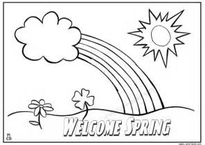 coloring pages for spring break images