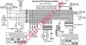 Diagrama Honda Loom St50 Basic Model 6v