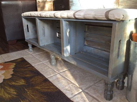crate bench crate bench crate furniture diy furniture