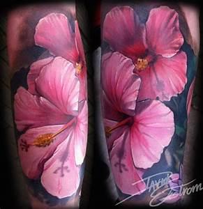 Hibiscus Flower Tattoos | Tattoos & Art by: DAVID EKSTROM ...