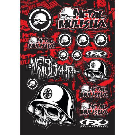 factory effex metal mulisha sticker kit 14 68050 atv dirt bike dennis kirk inc
