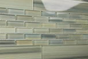 light green blue gray 2x12 subway glass tile for kitchen