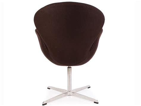 chaise jacobsen chaise swan arne jacobsen marron