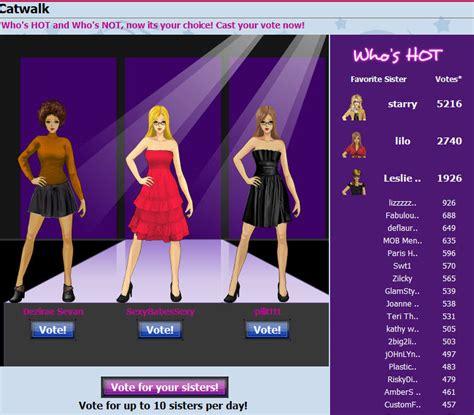 sorority games play myspace planet star movie catwalk