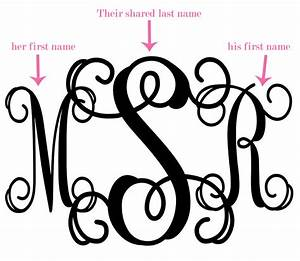 what is a wedding monogram the yes girls With how to make a monogram