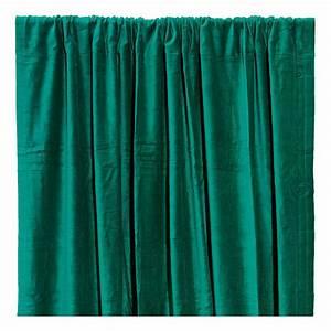 Rideau Velours Vert : rideau occultant en velours de coton vert meraude liv interior ~ Teatrodelosmanantiales.com Idées de Décoration