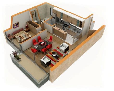 25 One Bedroom Houseapartment Plans by 17 Best Images About Small House Floorplans On