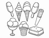 Ice Cream Coloring Pages Lot Sweetie Icecream Forkids Creams Layer Wow Such sketch template