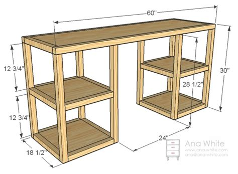 how to make desk legs ana white build a parson tower desk free and easy diy