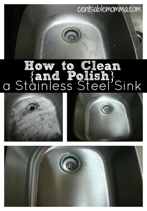 stainless steel sink clean polish