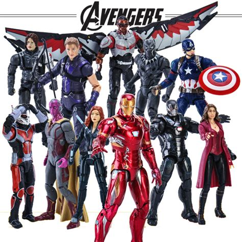 captain america civil war black widow hawkeye vision pvc action figure collectible model toy