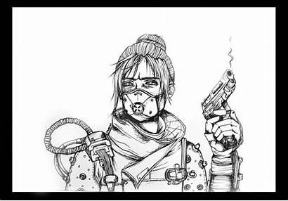 Apex Wraith Legends Drawing Legend Danime Coloring
