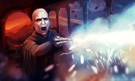 Harry potter fan art fighting lord voldemort