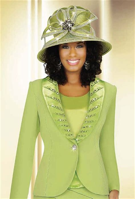 ben marc international womens lime pc tiered church suit