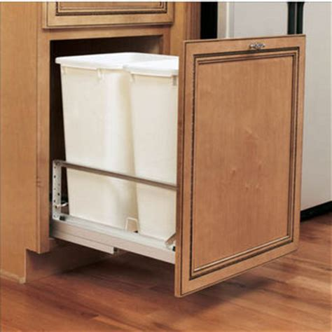 in cabinet trash can roll out pull out built in trash cans cabinet slide out under