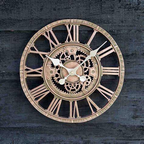 Smart Garden Newby Mechanical Wall Clock, Bronze   Leekes