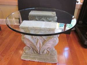 Dining room attractive dining room design with glass top for Stone base glass top coffee table