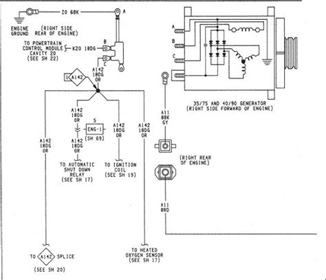 1994 Wrangler Wiring Diagram by 1994 Jeep Wrangler Charging System Wiring Diagram