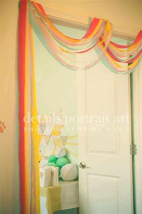Decorating Ideas With Streamers by Crepe Paper Streamer Door Garland Abby Of Fete
