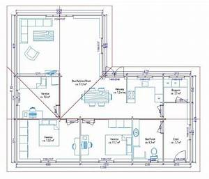 Maison 120m2 Plain Pied : plan de maison 100m2 d une 1 lzzy co 5 ~ Melissatoandfro.com Idées de Décoration